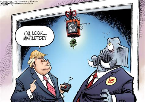 nate beeler cartoons beeler cartoon trump mistletoe news mpnnow