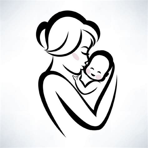 mother and baby tattoo designs and baby design