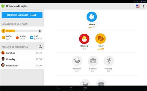 duolingo android duolingo 2 para android sigue aprendiendo ingl 233 s con las novedades de la nueva versi 243 n