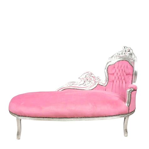pink chaise lounge chairs baroque pink and silver chaise lounge art deco