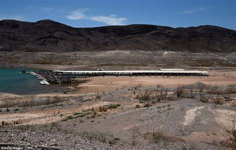 boat launch echo lake fourteen year drought leaves lake mead at all time low