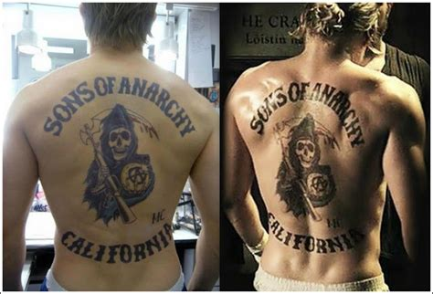 sons of anarchy back tattoo make not war tinsley transfers how the pros