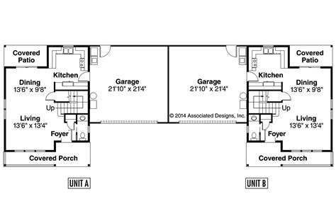 single story duplex floor plans craftsman house plans kentland 60 015 associated designs