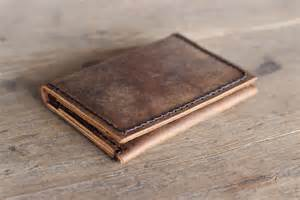 Handmade Leather Mens Wallets - s leather wallet ultra slim minimalist rustic by joojoobs