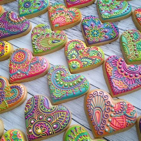 henna design biscuits these colourful quot henna inspired quot cookies are little