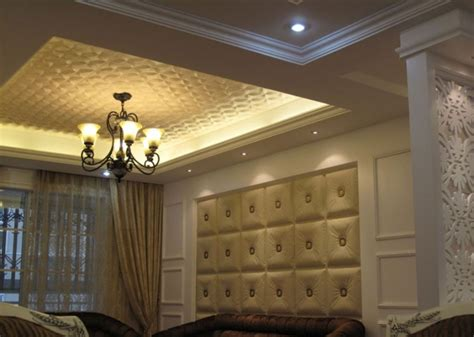 Wall And Ceiling Panels Buckle Up Faux Leather Ceiling Tile Dct Lrt02