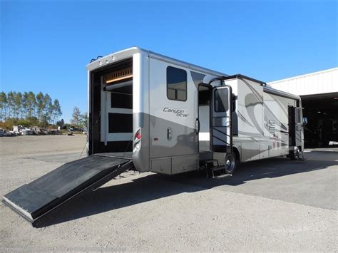 Rv Storage Garage 2011 newmar rv canyon star 3920 toy hauler sold for sale