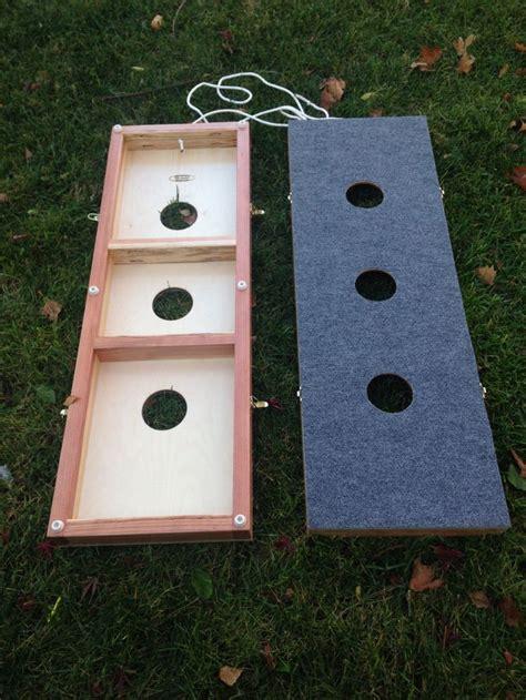 diy wooden bean bag toss washer board 3 washer toss yard