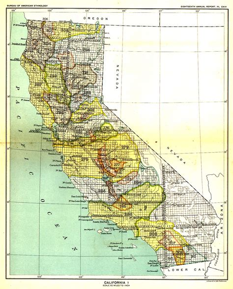california map indian indian land cessions in the u s california 1 map 7