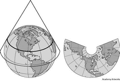 conic map latitude longitude and drilling map projection drilling
