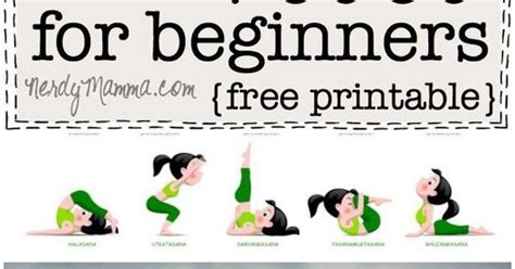 printable simple yoga poses 20 easy yoga poses for beginners with a free printable