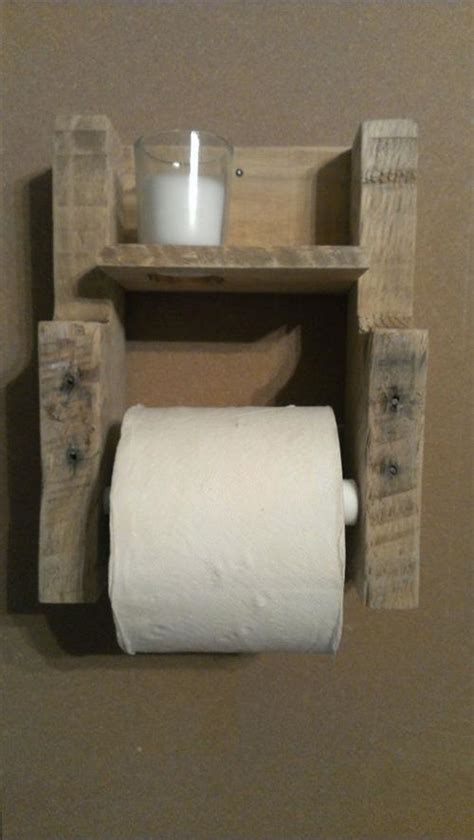 Make Toilet Paper Holder - rustic pallet wood toilet paper roll holder pallets designs