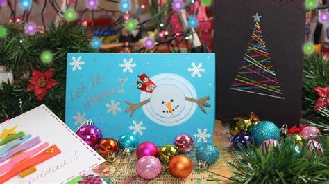 imagenes navideñas virtuales tarjetas navide 241 as 3 ideas super f 225 ciles youtube
