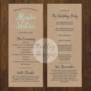 Wedding Programs Example Hadley Designs Programs