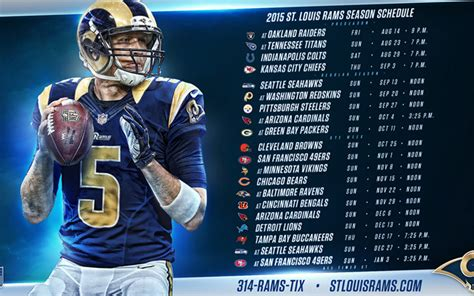 schedule rams rams 2015 schedule