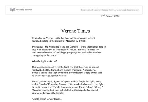 newspaper theme doc ubru at home romeo and juliet newspaper article homework