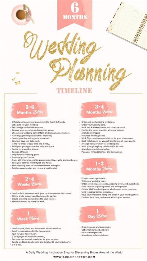6 month wedding planning timeline   Wedding, All things
