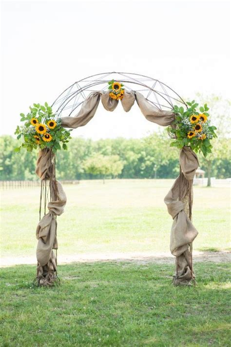 Wedding Arch With Sunflowers by 300 Best Images About Sunflower Weddings On