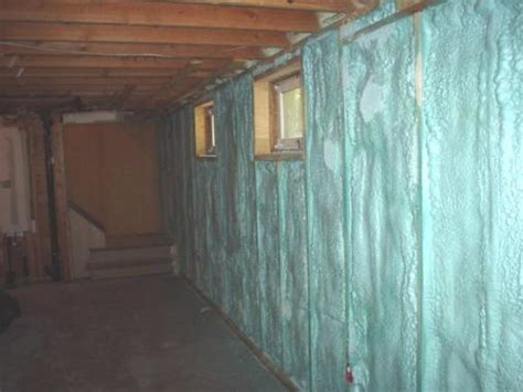 basement blue wall basement insulation insulating a