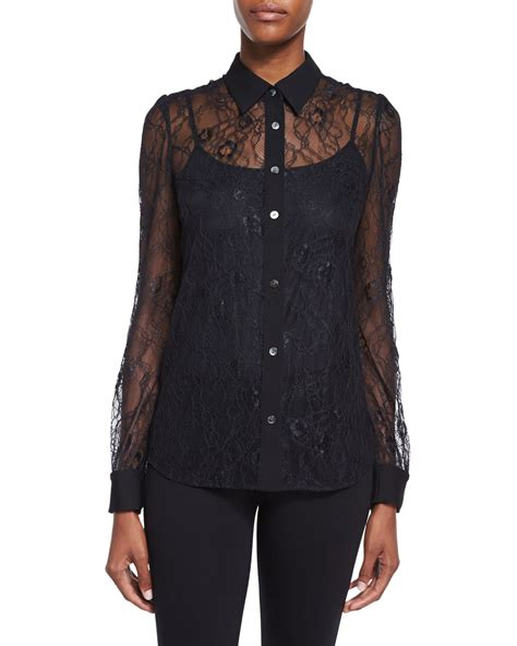 Baru Lace Blouse Black Diane Furstenberg Sleeve Lace Blouse In
