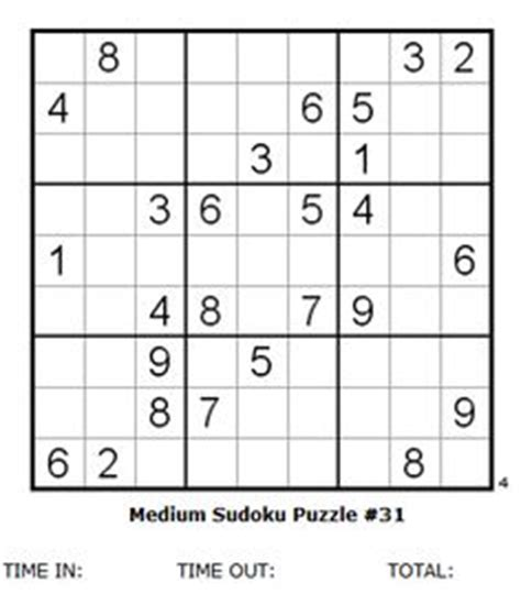 medium sudoku puzzles and solutions by 4puz com mental health pointers and puzzles on pinterest