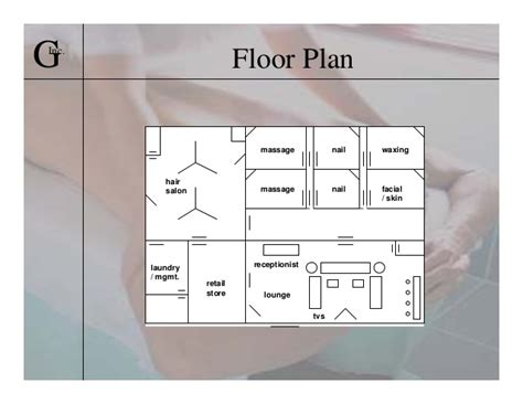 massage spa floor plans student project business plan presentation in 2004