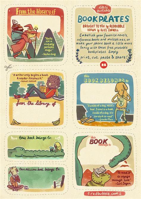 free printable bookplates templates free printable bookplates redbubble bookplate