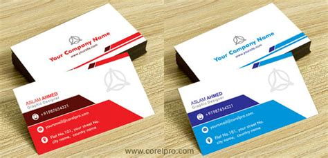 corel draw business card template business card template vol 21 cdr format corelpro
