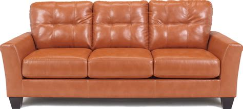 orange leather couch orange modern sofa
