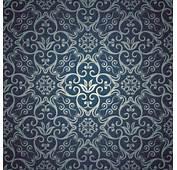 Blue Floral Seamless Pattern Design Vector