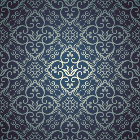 svg pattern style blue floral seamless pattern design vector vector