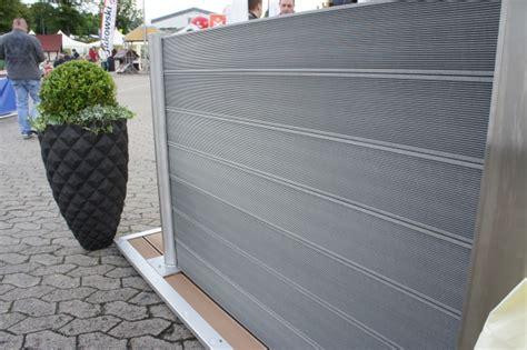 terrasse 1 meter hoch wpc sichtschutz zaun set alu 4 m wpc dielen zaun shop