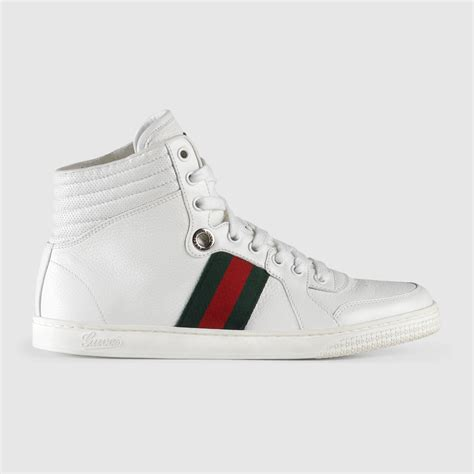 gucci high top sneakers for gucci high top leather sneaker 257353adfx09060