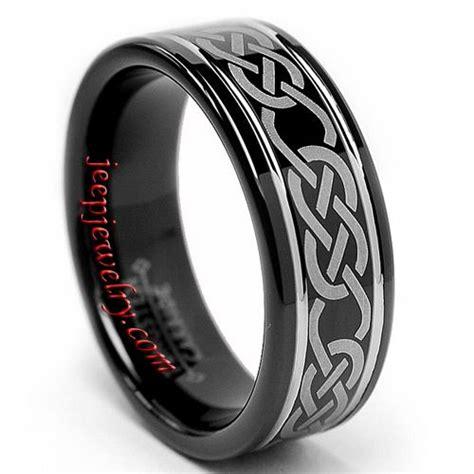 s tungsten carbide black celtic ring 8 mm