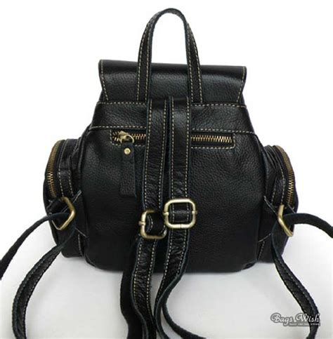 Small Black Leather by Small Black Leather Backpack Backpacks Eru