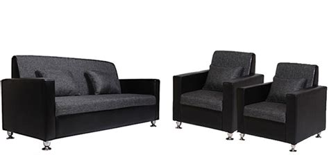 sofa set online buy black tulip sofa set 3 1 seater by arra online