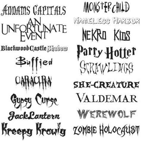printable scary fonts 7 best images of free printable scary fonts halloween