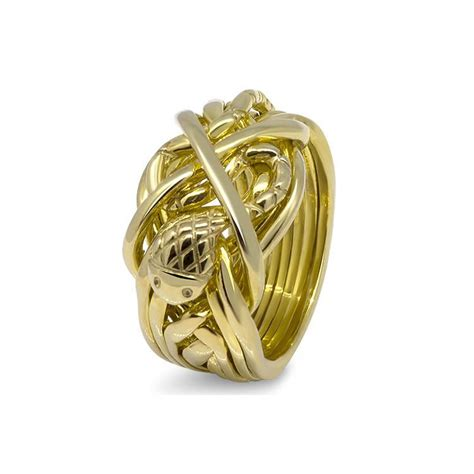 mens gold 91m m puzzle rings creations