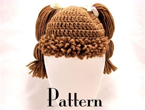 crochet pattern for cabbage patch kid hat cabbage patch kid style crochet hat pattern all ages