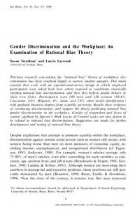 Research Paper About Gender Inequality Research Paper On Gender Discrimination In The Workplace
