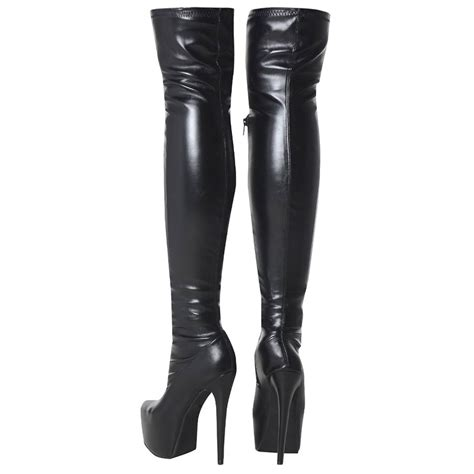 womens knee thigh high heel stretch suede