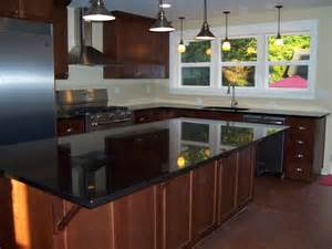 attractive Can You Stain Kitchen Cabinets #9: incredible-black-quartz-countertops-contemporary-kitchen-interior-images.jpg