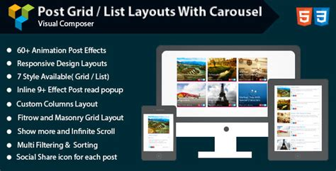 layout post wordpress visual composer post grid list layout with carousel