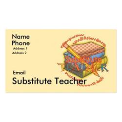 substitute business card exles substitute motto business card templates zazzle