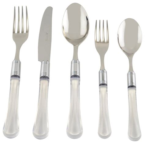 steel place setting set of 5 modern flatware and zappiro 5 piece place setting modern flatware and