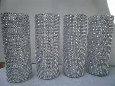 Cheap Tall Cylinder Vases Set Of 10 9 Tall Cylinder Rhinestone Vase Bouquet