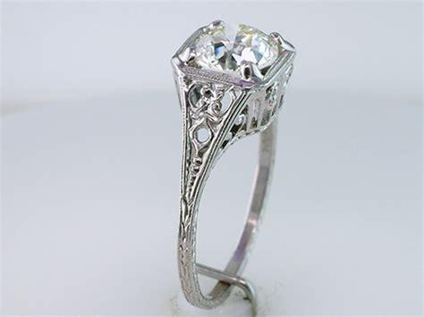 deco vintage ring vintage antique certified 1 25ct platinum deco