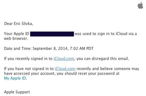 Search On Using Email Id Apple Now Sending Alert Emails When Icloud Accounts