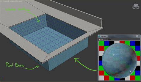 vray pool water caustics effect arch viz c