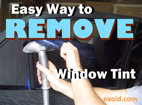 how to get tint off house windows removing window tint and how to remove old window tint autos post